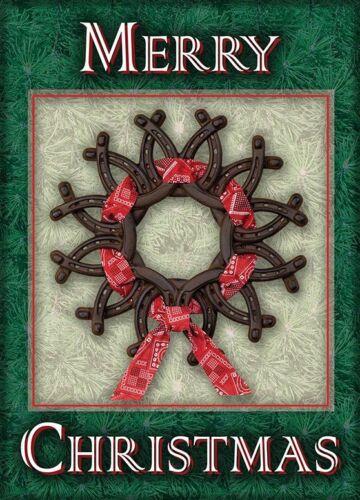Horseshoe Wreath Farrier Blacksmith Horseshoer Christmas Cards
