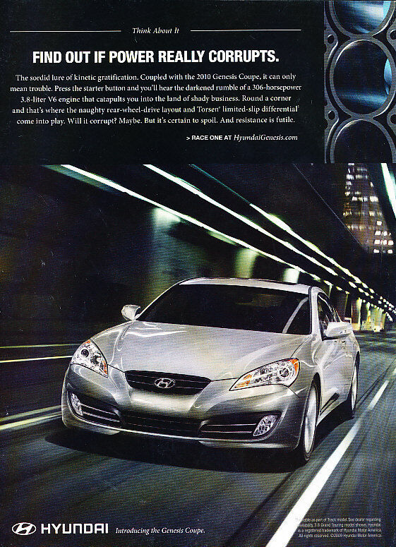 2009 Hyundai Genesis - City - Classic Vintage Advertisement Ad D67
