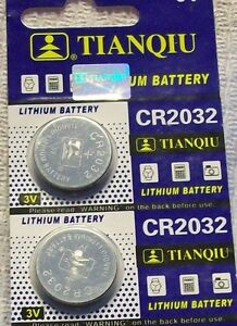 2 CR2032 DL2032 ECR2032 5004LC 3 Volt Lithium Button Cell Battery USA US Ship