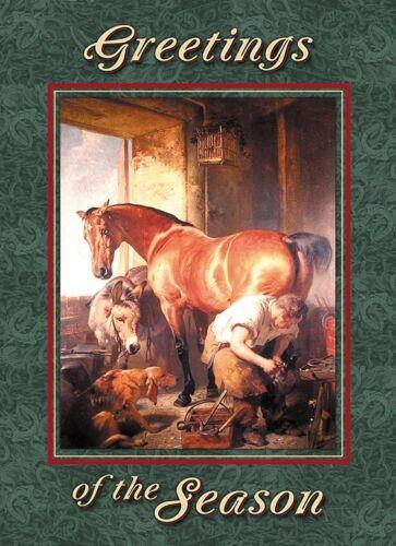 Landseer Shoeing the Bay Mare Farrier Blacksmith Horseshoer Christmas Cards