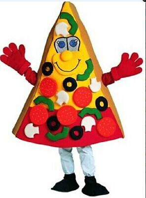Pizza Mascot Costume Cosplay Party Game Dress Outfit Advertising Halloween Adult