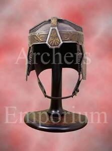 LOTR-United-Cutlery-GIMLI-HELM-Hand-SIGNED-John-Rhys-Davies-Autograph-NEW
