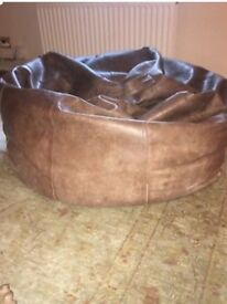 Mulberry Home leather beanbag