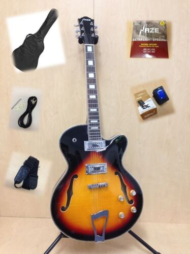 Haze Hollow Electric Guitar SEG-278VS + Gig Bag + Strings+tuner+ strap