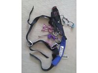 Climbing Harness + 5-Screwgate Krabs + Belay Device. Almost NEW. Black Diamond Large. Pensioner use.