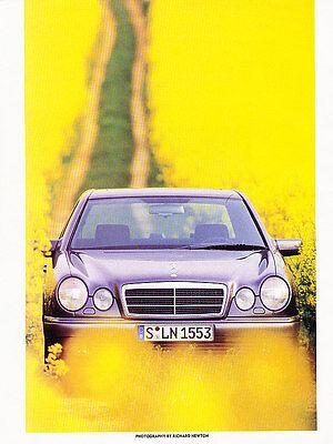 1996 Mercedes Benz E320 E-Class Sedan Original Car Review Print Article J511 - Mercedes Benz E320 Review