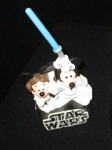 Star Wars Mickey & Minnie Mouse Jedi Stationary Piggy Bank Disney Star Tours