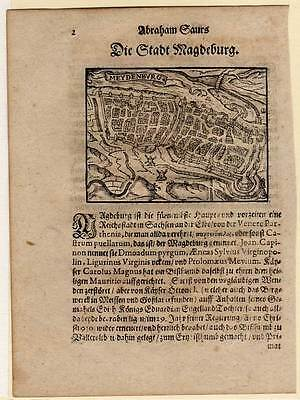 Magdeburg - Holzschnitt von Saur 1595