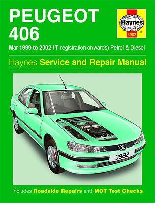 3982 Haynes Peugeot 406 Petrol and Diesel (Mar 1999 - 2002) Workshop Manual