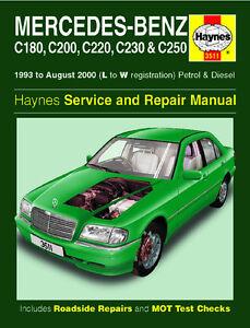 Mercedes w202 c class c180 c200 c220 c230 c250 1993 2000 for Mercedes benz c250 maintenance cost