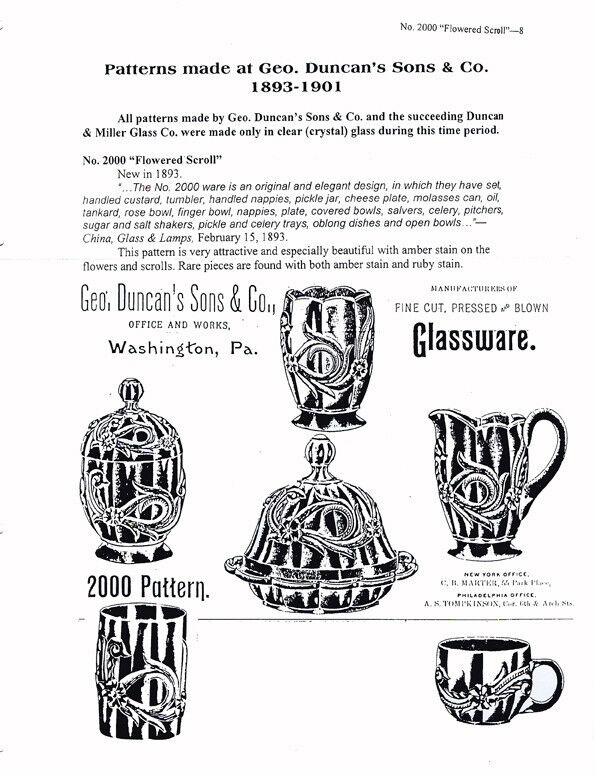 Duncan's EAPG Patterns-catalog & advertisement reprints