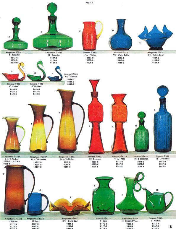 Bischoff Glass catalog reprints-blown, crackle glass