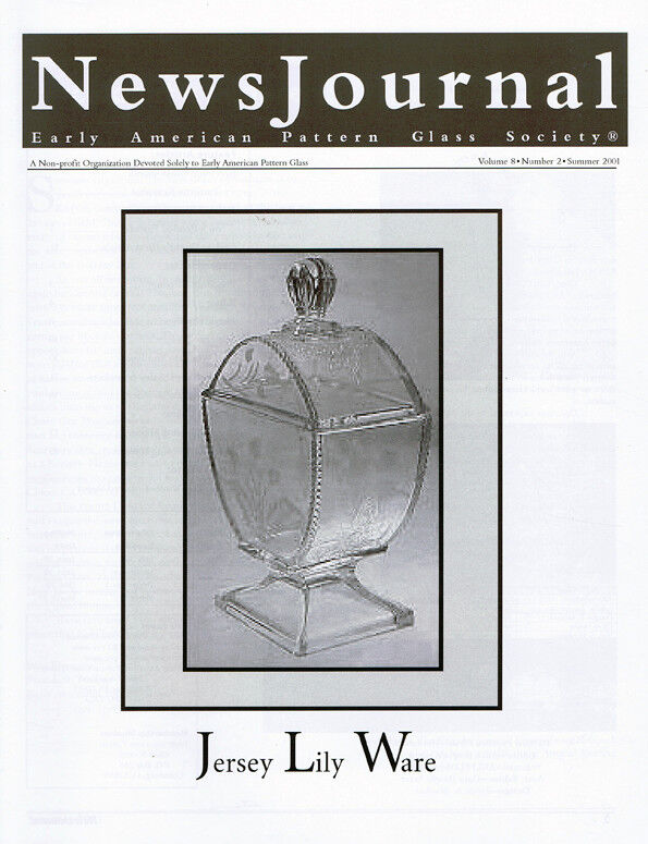 Early American Pattern Glass Society NewsJournal 8-2