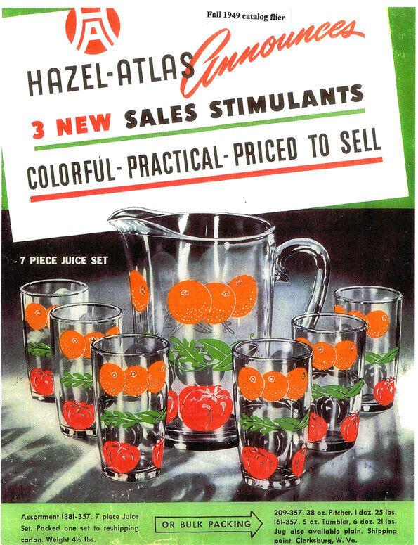 Hazel Atlas Glass-Orchard Crystal-History & Ads