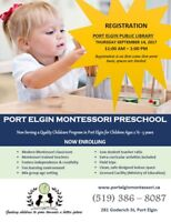 Port Elgin Montessori Preschool Now Enrolling