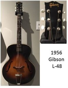 Gibson Acoustic Arch Top  Vintage 1956 L-48