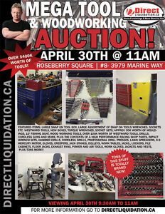 BRAND NEW AND USED TOOL AUCTION - Saturday April 30