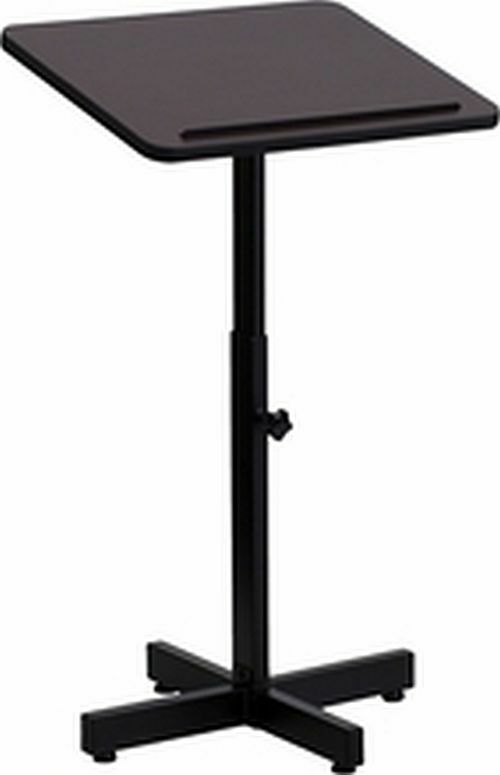 Metal Lectern Podium Adjustable Height Black FrameLaminate Surface Church Office