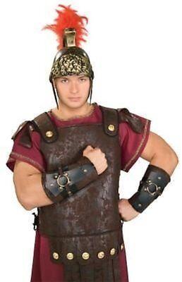 Roman Soldier Arm Guards Centurion Costume Caesar Nativity Legionnaire - Mens Gladiator Costume