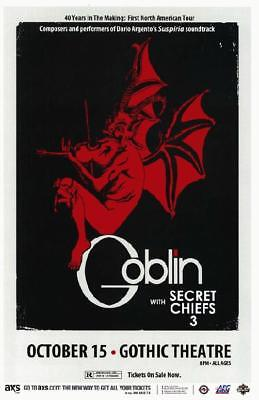 GOBLIN SECRET CHIEFS DENVER 2013 CONCERT POSTER HALLOWEEN GOTHIC