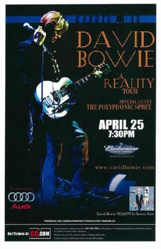 David Bowie Budweiser Event Center Original 2004 Concert Poster Loveland, CO