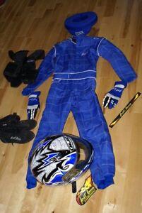 helmet & suit for racing (blue)