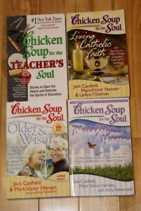 "4 ""Chicken soup for the soul"" books"