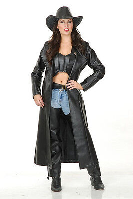Duster Jacket Cowgirl Trench Coat Fancy Dress Halloween Adult Costume 2 COLORS ()
