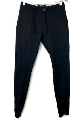 Oakley Mens Black Slim Fit Pants Joggers Size (Oakley Joggers)