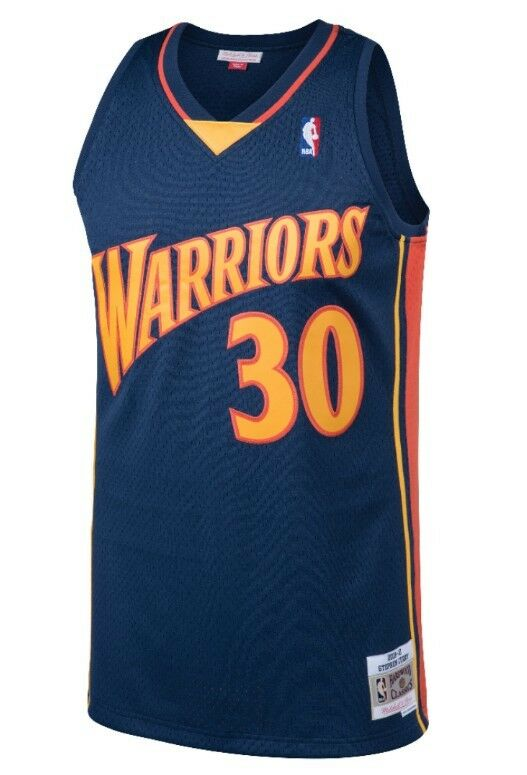 100% authentic cfb34 142f5 Details about Stephen Curry #30 Golden State Warriors Mitchell & Ness Mesh  Throwback Jersey