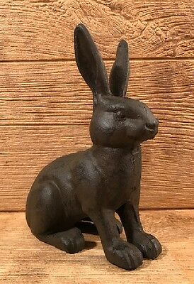 "Cast Iron Rabbit Door Stop  9 1/4"" tall Home & Garden Decor Supplies 0184S-0086"