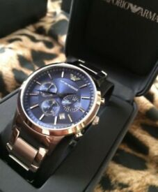 Armani watch new without tags comes with box and certificate no damage