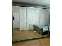 💥💯WAREHOUSE SALE 2020 ON 2/3 DOORS SLIDING WARDROBE WITH FULL MIRRORS ALL SHELVES & RAILS INCLUDED