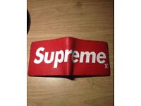 Used Unisex Red Supreme Louis Vuitton Wallet