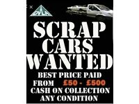 Scrap Cars Wanted - Best price paid