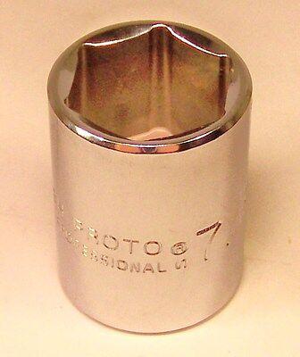 Proto Professional 5428h 7/8 6 Point 1/2 Drive Socket Chrome Standard Sae