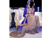 Asian Wedding Clothes (Designer Wear) Blue & Biege