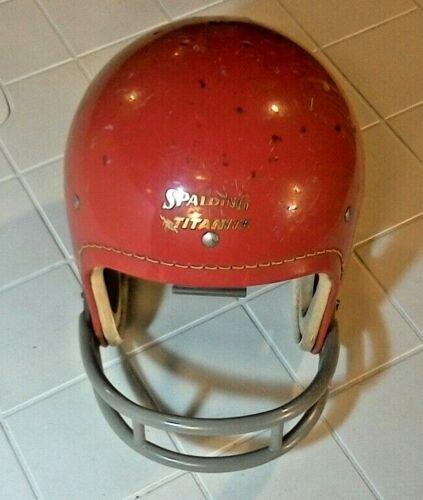 Vintage Spalding Titanite  Red Football Helmet 62-313 Size Medium 6 7/8 - 7