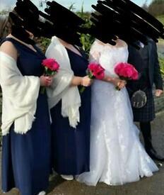 Navy bridemaid dresses