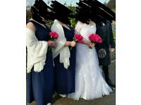 Navy bridemaid dresses
