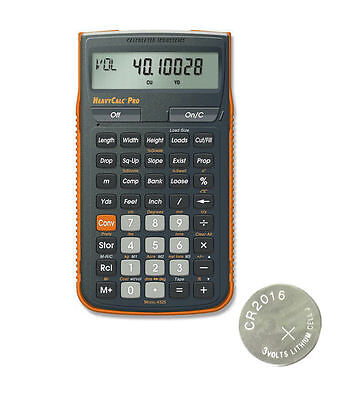 Calc  Ind  Heavycalc Pro Calculator 4325 W Armadillo Case   Spare Cr2016 Battery