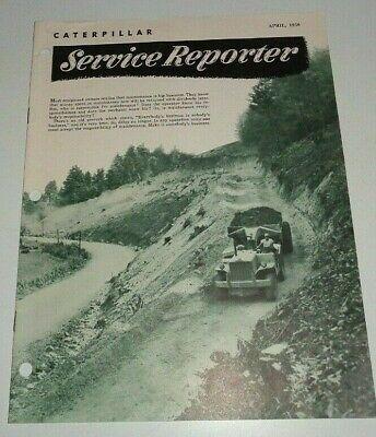 Caterpillar April 1956 Service Reporter Brochure Magazine Manual Original Cat