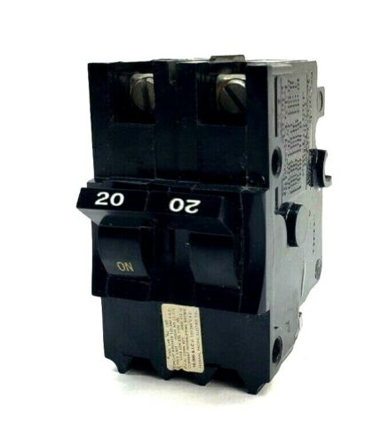 Federal Pacific Electric (FPE) 20 Amp 2 Pole Stab-Lok Thick Breaker