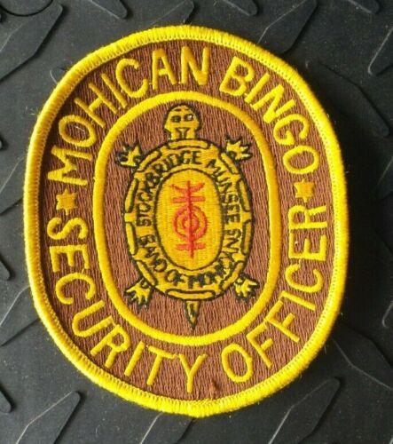 WISCONSIN MOHICAN BINGO CASINO SECURITY STOCKBRIDGE MUNSEE TRIBE PATCH UNUSED