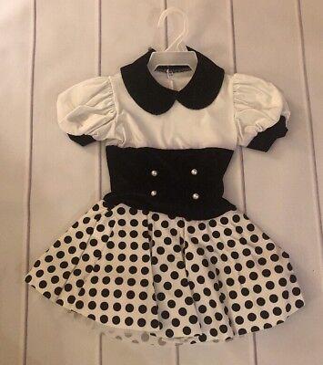 art stone dance costume Black/white Girls Size Large - Stone Dance Kostüm