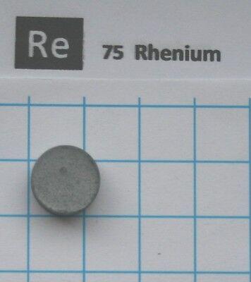 2.4 gram compressed Rhenium metal pellet 99.96% pure element 75 sample