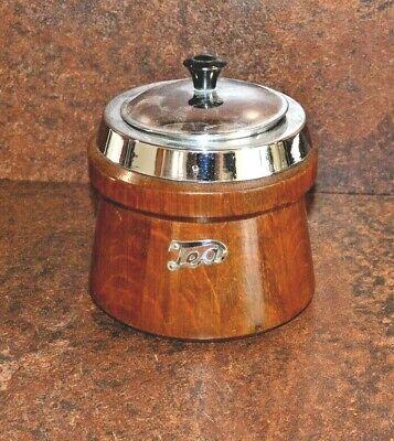 Vintage Oak Tea Caddie