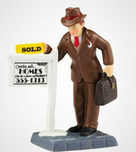 "NEW RARE CIC Dept 56, ""Sold!"" #4036501 Retired, Homes Sold Sign, Real Estate"
