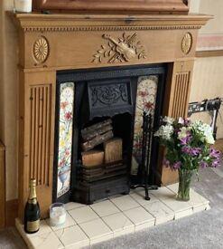 Beautiful 1930's wooden fireplace surround