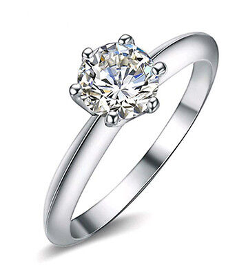 1Ct Diamond Solitaire Engagement Wedding Ring Free Shipping